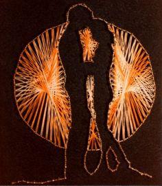 Bildergebnis für string art flower