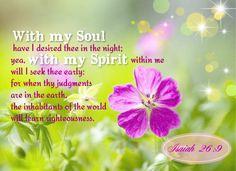 Isaiah 26:9 KJV