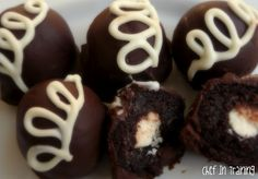 HOSTESS CUPCAKE CAKE BALLS  1 bx chocolate cake mix (and what ever it calls for) 1/2 container of cream cheese cake frosting