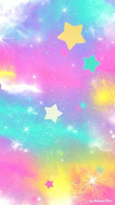 23 New Ideas Wallpaper Unicorn Pastel Goth Wallpaper Pastel, Rainbow Wallpaper, Star Wallpaper, Wallpaper For Your Phone, Wallpaper Gallery, Kawaii Wallpaper, Cute Wallpaper Backgrounds, Pretty Wallpapers, Trendy Wallpaper