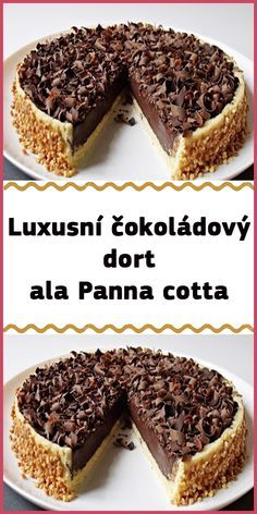 Chocolate Pies, Panna Cotta, Sweet Life, Cheesecake Recipes, Cheesecakes, Food To Make, Good Food, Food And Drink, Cooking Recipes