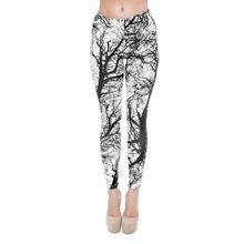 Zohra 3D Print Bomen Patroon Fitness Vrouwen Legging Nieuwe Comfortabele Polyester Broek Regular Vrouwen Broek(China)