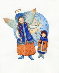 Christmas costumes of Ukraine by Evheniya Haydamaka, via Behance