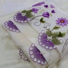 İğne oyası havlu kenarı modeli