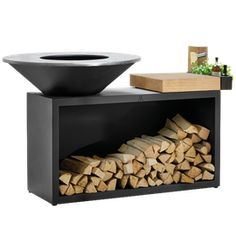 OFYR is a functional artwork designed to bring beauty, warmth, food and friendship to your outdoor space. More practical and stylish than your typical barbecue Outdoor Grill Station, Barbecue Design, Grill Oven, Garden Stairs, Corten Steel, Fireplace Accessories, Wood Storage, Outdoor Cooking, Food Preparation