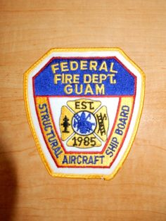 Collectible Firefighting & Rescue U. Fire Dept, Fire Department, Hawaii Fire, Guam, Fire Badge, Us Navy, Firefighter, Marines, Badges