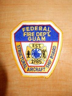 Collectible Firefighting & Rescue U. Fire Dept, Fire Department, Hawaii Fire, Guam, Fire Badge, Us Navy, Firefighter, Marines, Badges