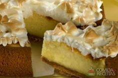 Receita de Torta suflê de limão em receitas de tortas doces, veja essa e outras receitas aqui!
