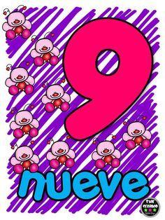 Números 1-10 DE Star Leyva (9) Activities For 2 Year Olds, Preschool Learning Activities, Classroom Activities, Preschool Spanish, Spanish Lessons For Kids, Math Bingo, Learning Numbers, Animal Decor, Teacher Hacks