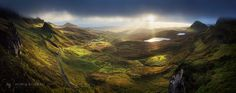 Quiraing morning - After what looked like a hopeless morning, magical conditions came out of nowhere around Quiraing - Isle of Skye, Scotland. (4 shot panorama)  More new images on: http://horia-bogdan.com/galleries/new-work/