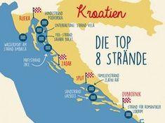 Karte von Kroatien Places to Visit in 2018 Pinterest