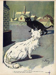 * Amour! Amour! Cats  Le Sourire 1911 - Jacques (Lehmann) Nam