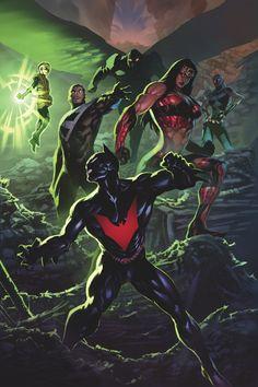 The Justice League of Batman Beyond Batman Poster, Batman Art, Superman, Gotham Batman, Batman Robin, Arte Dc Comics, Batman Do Futuro, Univers Dc, Bob Kane