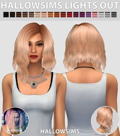 Lights Out hair edit at Hallow Sims via Sims 4 Updates