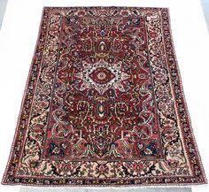 57553 Bakhtiari Persian 6.9x10 #persiancarpet #bakhtiari #rug #interiordesign