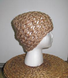 Crochet Beanie: tan
