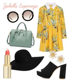"""Retro by Jubells Espinoza"" by jubells-espinoza on Polyvore featuring Fendi, Miu Miu, Mansur Gavriel, Emerson, Monki, L'Oréal Paris and Lydell NYC"