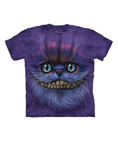 Another great find on #zulily! Purple Cheshire Cat Sublimation Tee - Toddler & Kids #zulilyfinds