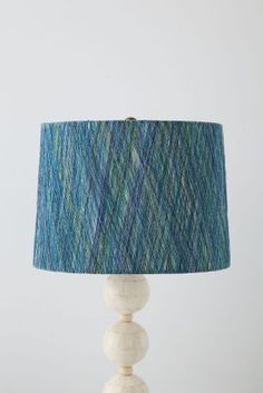 Strandwrap Lampshade #anthropologie ...what to do w/ leftover laceweight yarn