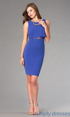 Knee Length Holiday Dress by Jessica Simpson. Shop the look: http://www.simplydresses.com/shop/viewitem-PD1349631