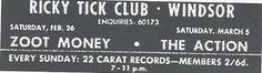 Ricky Tick club, Windsor