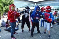 #lego #captainamerica #ironman #Spiderman #cardoard #cosplay