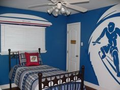 The other Boys room paint ideas can be applied with the other themes such like military theme or just like airplane theme. Painting such like plane or jet on the wall is good however, it is better to color the wall background with airy blue color because this theme is showing the sky atmosphere for the room. Nevertheless, as the military theme, in applying this theme is usually using camouflage furniture and colors.