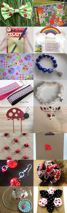 Lovely Ladybugs  by Julie and Kate on Etsy--Pinned+with+TreasuryPin.com