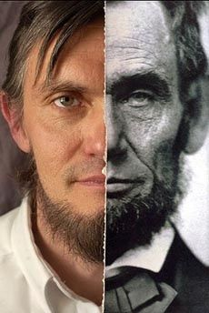 The faces of Abraham Lincoln and Ralph C. Lincoln, 11 th generation Lincoln, 3rd cousins