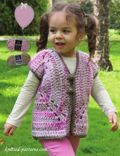 Girl's vest crochet pattern free