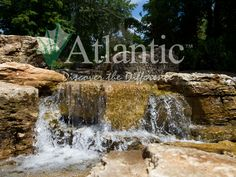 """Atlantic Water Gardens has everything you need to meet your outdoor water feature needs. Whether it be ponds, fountains, formal spillways, or waterfalls - Atlantic has the products to get the job done. Check out our website for more great photos of water features to help inspire you to create your own backyard oasis. Visit the """"Find a Supplier"""" link to find a location that carries Atlantic Water Gardens' products near you."""