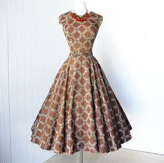 vintage 1950's dress fabulous new look designer LUIS by traven7, $360.00