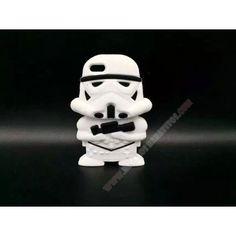 Nueva Carcasa silicona divertida 3D star wars soldado para iPhone 5/5S