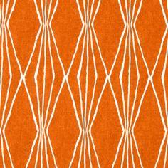 Robert Allen @ Home Handcut Shapes Orange Crush Fabric