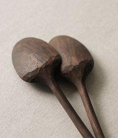 s-c-r-a-p-b-o-o-k: Yoshiyuki Kato.- Curry spoons, walnut.