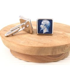 French inspired #cufflinks featuring Empire Franc 25c stamp - #handmade