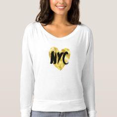 Gold Heart, NYC, New York T-shirt