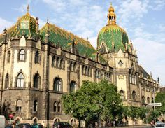 The Museum of Applied Arts in Budapest and the Secession Building in Vienna, are prime examples of Art Nouveau's decorative and symmetrical architectural aesthetic. Description from giotile.com. I searched for this on bing.com/images