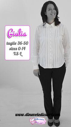 Giulia, il nuovo cartamodello DiNuvoleDiCuori è online!
