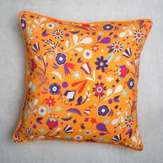 "Buy Flower Power 24"" Floor Cushion Cover Online - Chumbak"