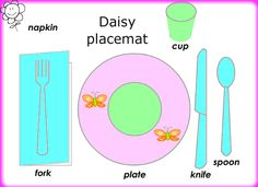 Print out Daisy placemat for manners