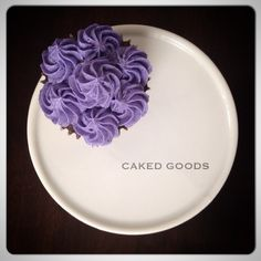 Pretty Purple Buttercream Cupcake by Caked Goods