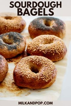 Chewy and crusty, with a deep flavor that only sourdough bread can give you, these Sourdough Bagels are worth the extra time! Easy to make, with simple ingredients and a step-by-step video, these are the best ever homemade bagels. Top them with poppy seeds, sesame seeds, everything bagel seasoning or your topping of choice.
