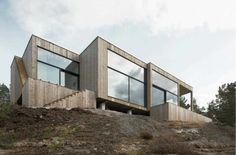 House on a Cliff Stockholm Archipelago petra gipp arkitektur, Katarina Lundeberg Amazing Architecture, Interior Architecture, In Praise Of Shadows, Stockholm Archipelago, Scandinavian Architecture, Wooden Facade, Forest House, House And Home Magazine, Exterior Doors