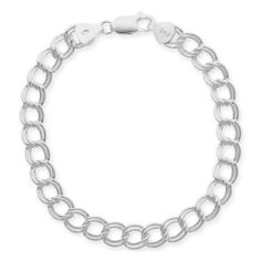 "Sterling Silver Double-Link Chain Bracelet, 7"" Amazon Curated Collection. $27.00. Tarnish free. Made in Italy. Available in 7"" and 8"""