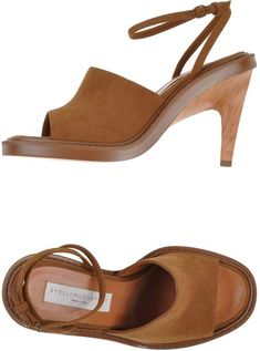 39f2417e3604 STELLA McCARTNEY Sandals Wooden Heels and Camel color faux suede High Heels  Stella Mccartney Sandals