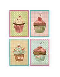 Quadrinhos Cupcakes vintage