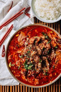 "Excited really isn't a strong enough word to describe how thrilled I am to share this Sichuan Boiled Beef recipe with all of you! ""Ecstatic"" and ""triumphant"" might do a better job. It's a great dish to impress your guests (and yourself) with and then proceed to go gaga over. If you've got something to prove …"