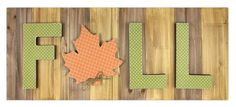 Fall Paper Mache Pallet Sign - Click through for project instructions.