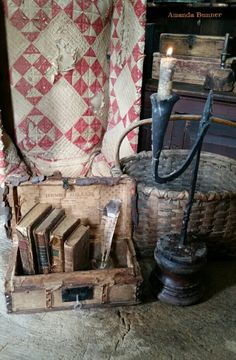 What if winter is not a place outside? Primitive Furniture, Primitive Antiques, Country Primitive, Old Antiques, Primitive Homes, Primitive Decor, Prim Decor, Country Decor, Rustic Decor